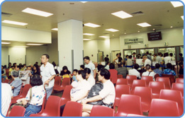 Western and Chinese outpatient clinics of Tung Wah providing free medical services.