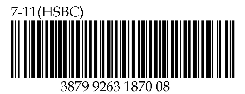 Barcode for donation at 7-11