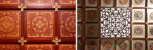 东华三院文物馆富中国传统色彩的天花装饰