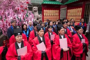 善信踊跃参与文武庙建成170周年赞星法会