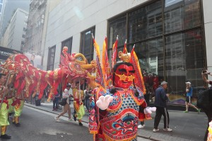 Man Mo Procession paraded through Central