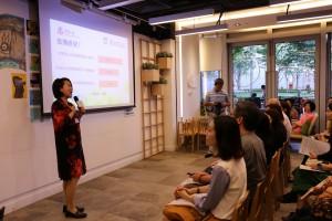 香港大学秀圃老年研究中心总监楼玮群博士发表调查结果。